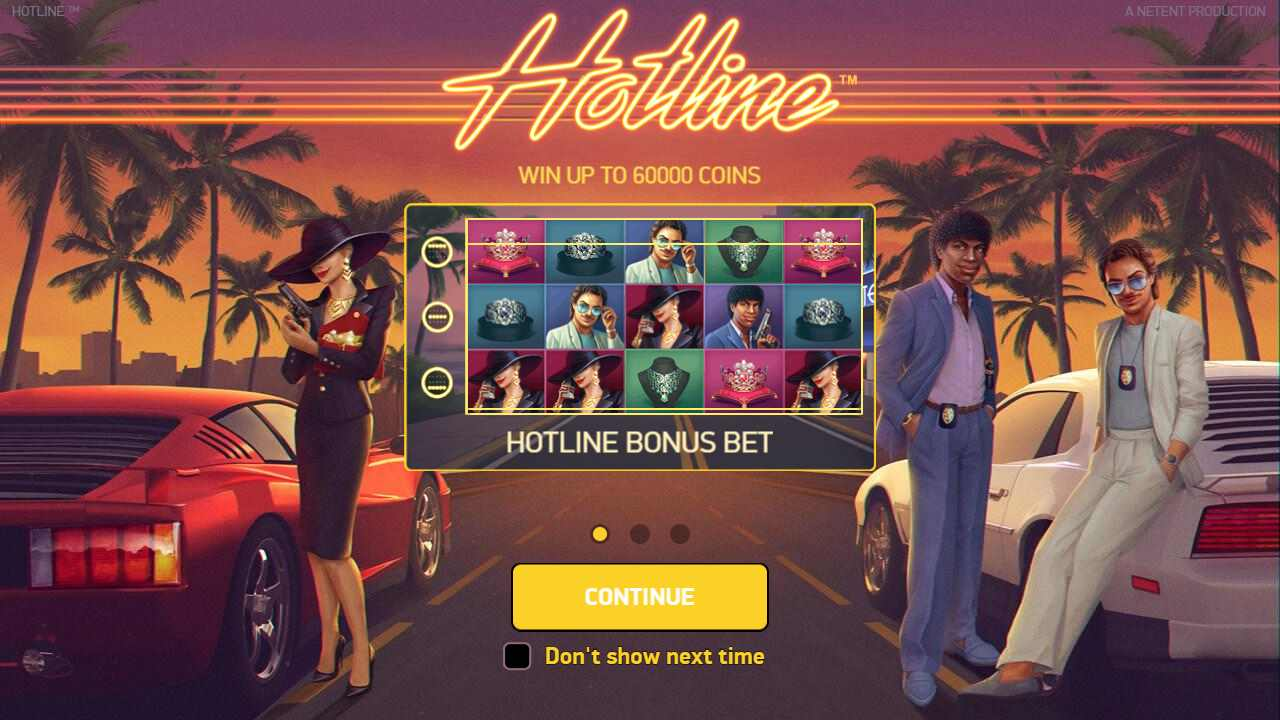Hotline new casino game with new unique multi-level bonus bet feature