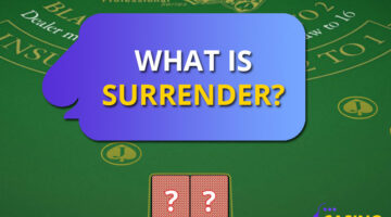 What is a surrender in blackjack?