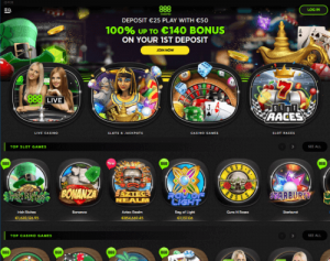 888casino front page