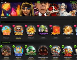 888casino casino lobby