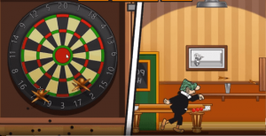 andy capp darts bonus game