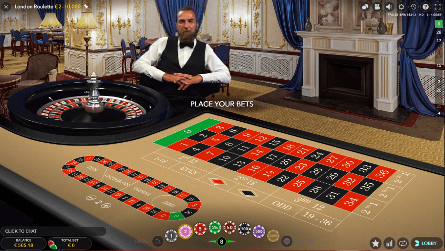 london live roulette on online casino
