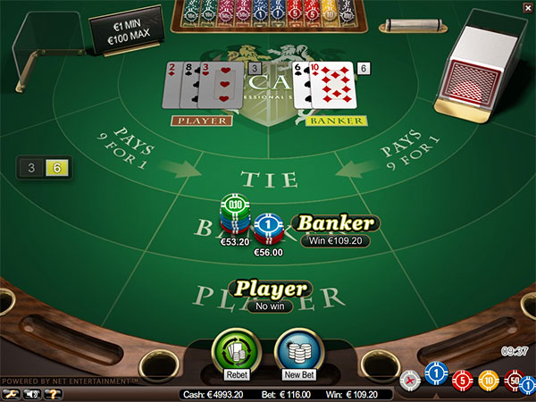 baccarat from netent