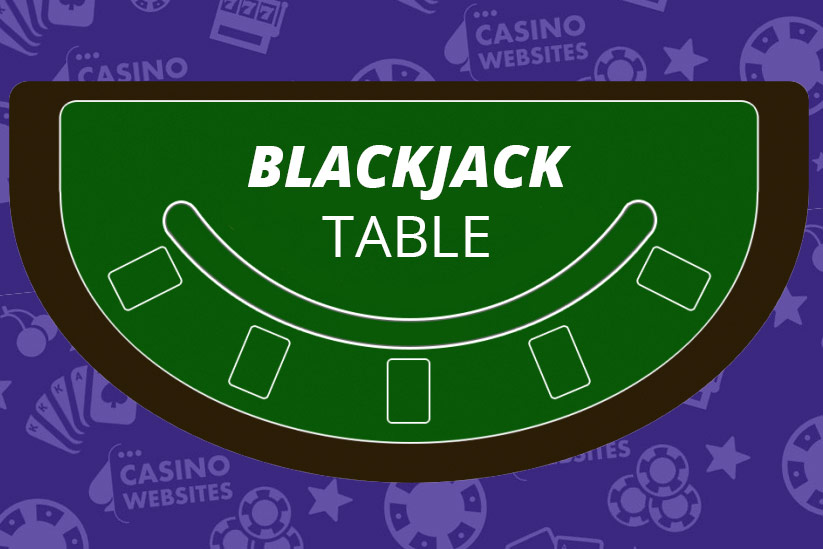 How a blackjack table looks like