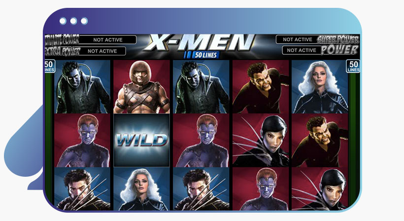 x-men Marvel slot